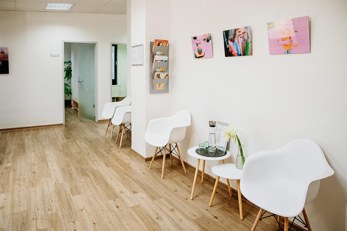 Wartebereich in der Praxis für Ergotherapie Köln-Süd